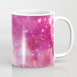Blush Pink and Ultra Violet Celestial Galaxy Coffee Mug