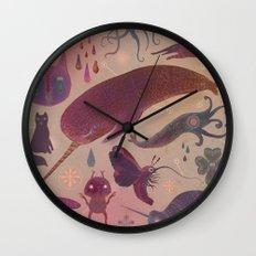 Purple Northern Dream Wall Clock