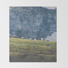 Beartooth Mountain Goats Throw Blanket