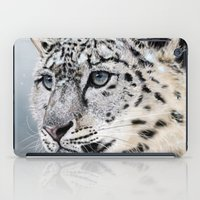 snow leopard iPad Cases featuring Snow Leopard by Aaron Jason
