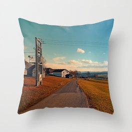 Scenic view at indian summer | landscape photography Throw Pillow
