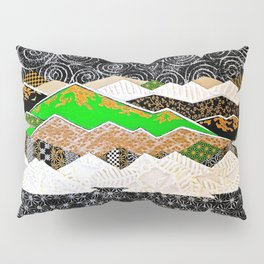 Rocky Mountains Wild (Green) - Landscape Pillow Sham