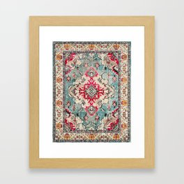 Heritage Farmhouse Style Traditional Oriental Moroccan Artwork Framed Art Print