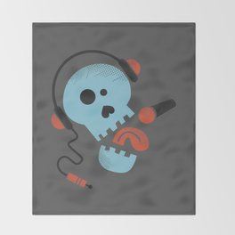 Calavera rockera / Rocking skull Throw Blanket