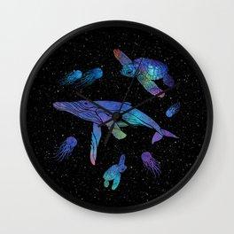 Space Sea Creatures Wall Clock