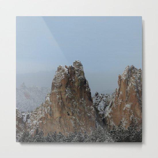 Smith Rock Snowbound Metal Print
