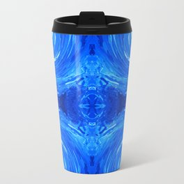 62 - Blue swirls Travel Mug