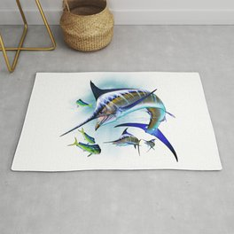 Marlin and Mahi Mahi Rug