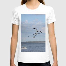 3 Seagulls Flying T-shirt