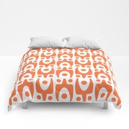 Mid Century Modern Abstract Pattern 541 Orange Comforters