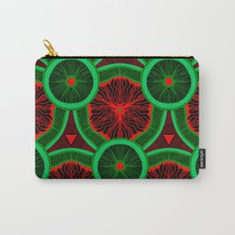red and greenery kivi pattern Carry-All Pouch