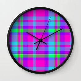 Sugar Plum Plaid Wall Clock