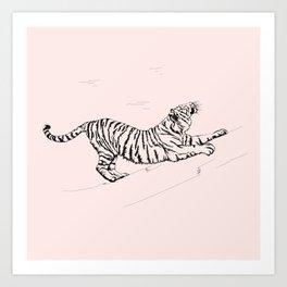 Tiger and Sun I. Art Print