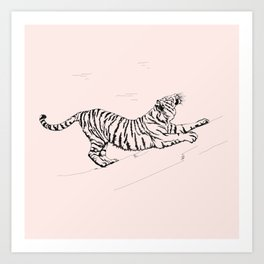 Tiger and Sun I. Art Print