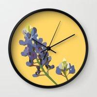 houston Wall Clocks featuring HOUSTON by Lauren Jane Peterson