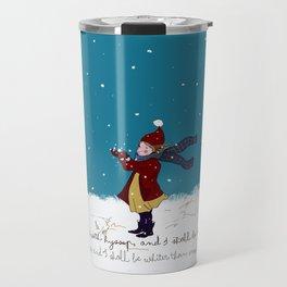 Snow day with bible verse Travel Mug