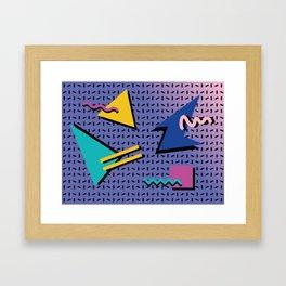 Memphis Pattern 9 - 90s - Retro Framed Art Print