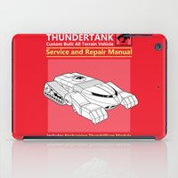 thundercats iPad Cases featuring Thundertank Service and Repair Manual by adho1982