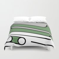 nike Duvet Covers featuring SNEAKERPILLOW - NIKE AIR MAX ONE PATTA CHLOROPHYLL by SNEAKERPILLOW