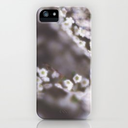 The Smallest White Flowers 03 iPhone Case