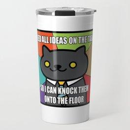 BUSINESS CAT NEKO ATSUME MEME V1 Travel Mug