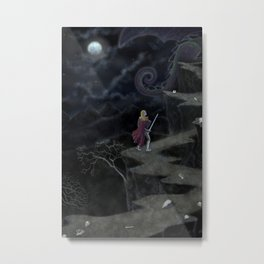 A Perilous Quest (and the Sword is Drawn) Metal Print