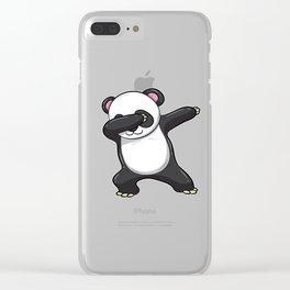 Dabbing Panda Shirt Bear Funny Dab Men Kids Gift Clear iPhone Case