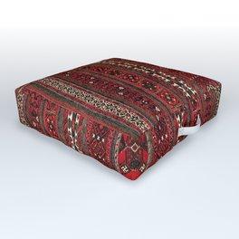 Baluch Flatweave  Antique Afghanistan  Rug Print Outdoor Floor Cushion