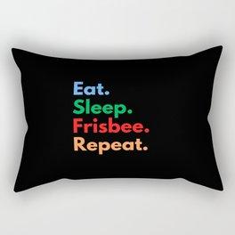 Eat. Sleep. Frisbee. Repeat. Rectangular Pillow