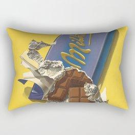 Chocolate Candy Bar Vintage Art Rectangular Pillow