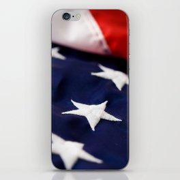 Focus On American Flag Star iPhone Skin