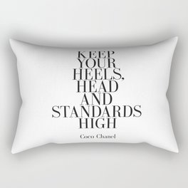"""Fashion Quote """"Better to be late than arrive ugly"""" Fashion Print Fashionista Girl Bathroom Decor Rectangular Pillow"""