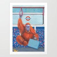 frank Art Prints featuring Frank by Sarah Underwood Illustration