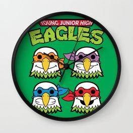 Old School Eagles Wall Clock