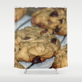 Orange Chocolate Chip Cookies Shower Curtain