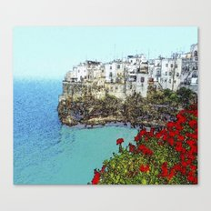 village on the sea Canvas Print