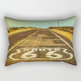 Route 66 Road Marker Rectangular Pillow
