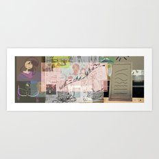 collage winter 2016 Art Print