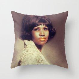 Aretha Franklin, Music Legend Throw Pillow