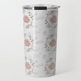 Peach Roses and Laurel Pastels Travel Mug