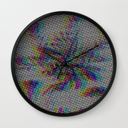 Botanical Flower Glitch II Wall Clock