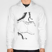 poetry Hoodies featuring Chest Poetry by Paulo Calhau