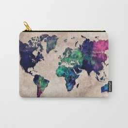 World map watercolor 1 Carry-All Pouch
