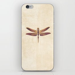 Art Nouveau Dragonfly In Purple iPhone Skin