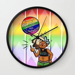 Whiny Hypermasculine Queerphobes Are Trash V1 Wall Clock