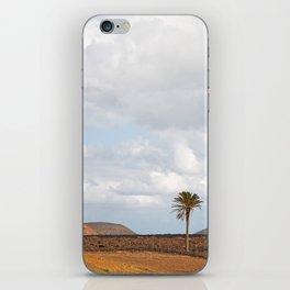Lanzarote Palm tree landscape iPhone Skin