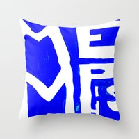 memphis Throw Pillows featuring MEMPHIS by John Weeden