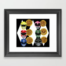 MMPR Framed Art Print