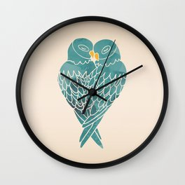 Love Birds (Blue) Wall Clock