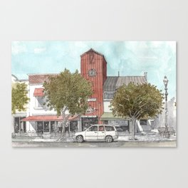 Sketching in Clovis, California Canvas Print